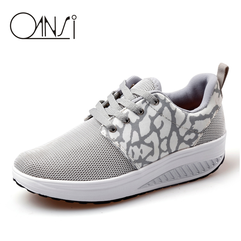 Women Running Shoes Breathable Swing Platform Ladies Trainers Shoes Zapatillas Mujer Women Running Sport Shoes Sneakers(China (Mainland))