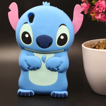 Buy Case SONY XPERIA XA F3115 Phone Bag 3D Cartoon Cute Blue Stitch Shape Soft Silicon Phone Housing Back Protective Cover for $3.45 in AliExpress store