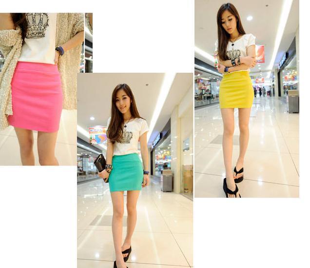 670 slim hip skirt short skirt a-line skirt bust skirt high waist dress