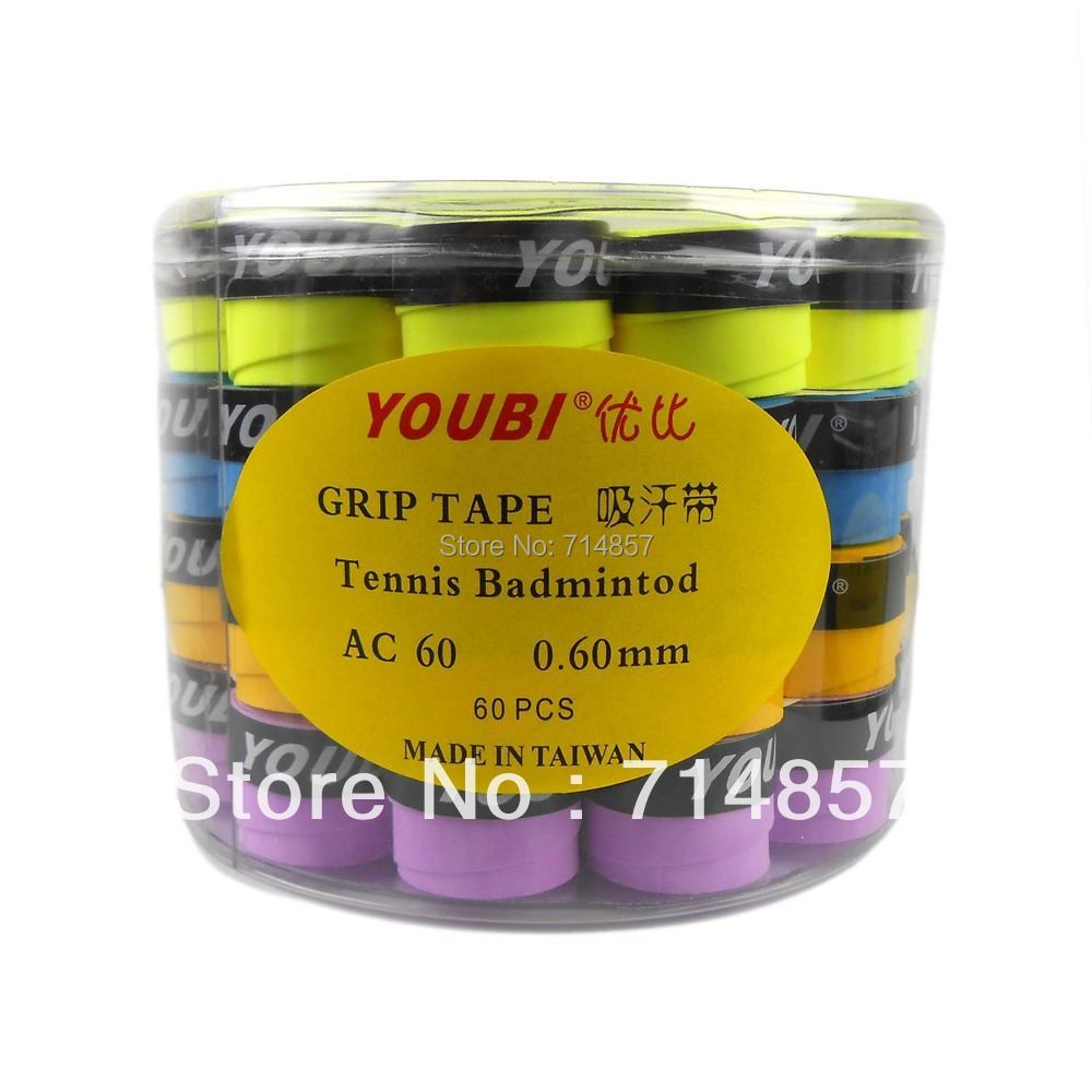 Free shipping, 60 x YOUBI AC60-2 Tennis Badminton Grip Tapes<br><br>Aliexpress