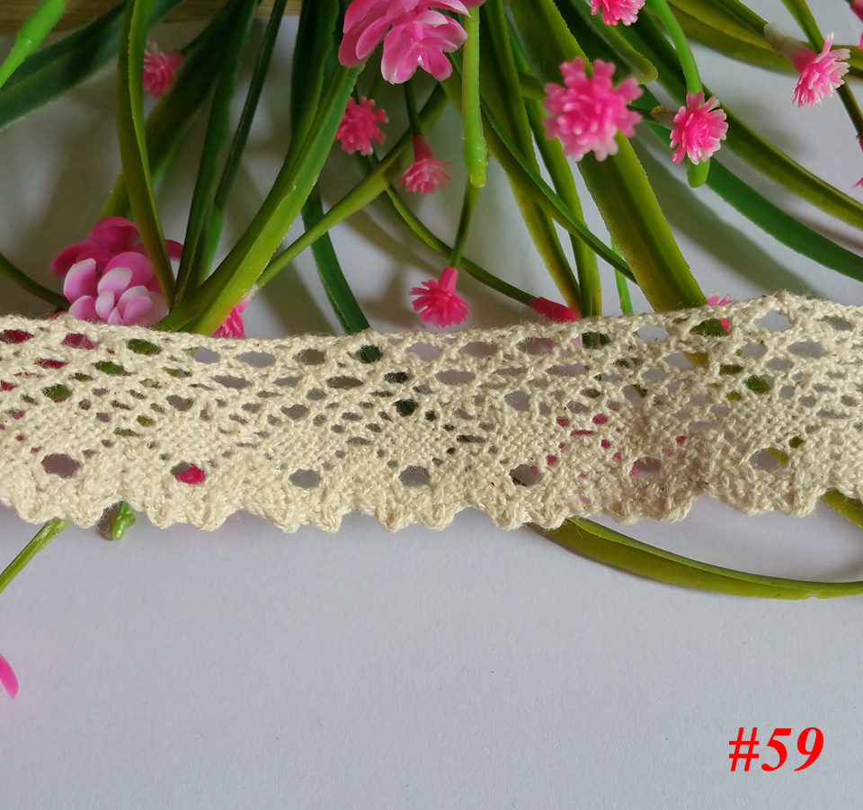 6 yards /lot, width 25mm, Cotton Lace scrapbooking Accessories Sweater Side Skirt Curtain Sofa Diy Cotton Lace TRIM(China (Mainland))