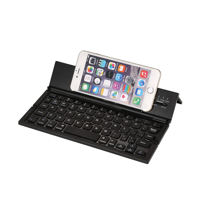 2017 New Ultra-Slim Aluminum Keyboard Foldable Bluetooth Keyboard Multiple Bluetooth Pocket Keyboard for iOS/Android/Windows PC(China (Mainland))