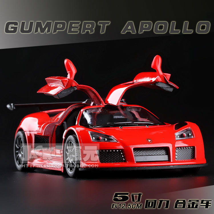 High Simulation Exquisite Baby Toys New and Original Gumpert Apollo Car Model 1:36 Alloy Sports Car Model Excellent Gifts(China (Mainland))