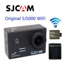 Envío Libre!! Original SJCAM SJ5000 WiFi Novatek 96655 Full HD Acción Del Deporte Camera + Extra 1 unids batería + Cargador de Batería