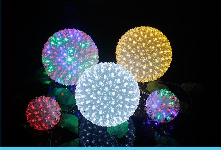 Led flower ball lamp globe lamp guelder lantern flasher lamp set christmas light ball signatureless decoration ball lights(China (Mainland))