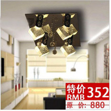 new arrival Crystal lamp  restaurant lamp bedroom lamp  led crystal ceiling lamp 45*45cm  free shipping(China (Mainland))