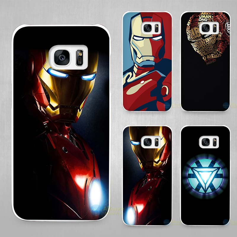 Superhero ironman Hard White Coque Shell Case Cover Phone Cases for Samsung Galaxy S4 S5 S6 S7 Edge Plus(China (Mainland))