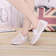 Cute white women hollow out sexy shoes summer female black slip on shoes shoes for lady sapatos femininos(China (Mainland))