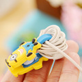 Cute Mini Cartoon Earphone Cable Button Winder Protector Wire Cord Organizer Holder for iPhone 5 5s