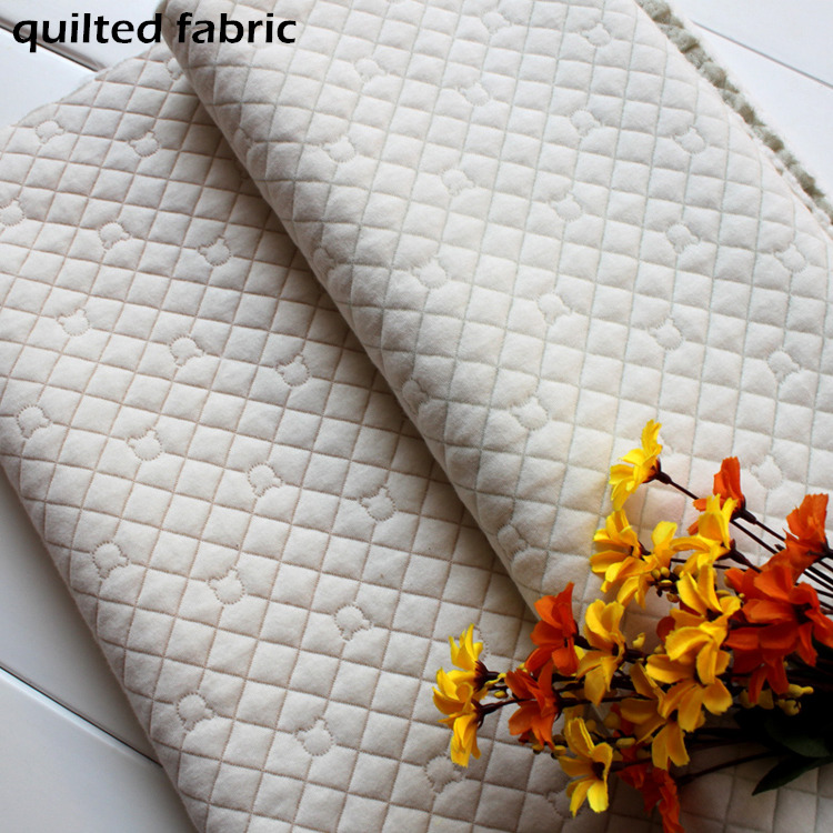 quilted fabric 100 cotton quality double sided quilted knit fabric warm for babies thermal fabric lining jacket trousers bedding(China (Mainland))