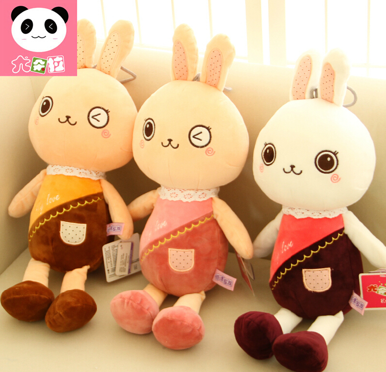 50cm coelho dom Bunny&me Easter Rabbit Mother And Baby Set Toys As Valentine's Day Birthday Gift Free Shipping(China (Mainland))