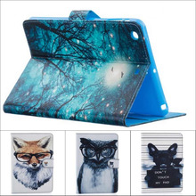 Fashion cartoon Tree Owl Dog Cat wallet card Pu leather stand holder cover case For Ipad Mini 2 for ipad mini 3 with stylus pen(China (Mainland))