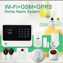2016 New Product WiFi GSM Alarm System Home Alarm Security outdoor flash siren Detector Sensor IOS Android Control