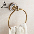 High quality wall mount Towel Ring Towel Holder Solid Brass Construction Antique Bronze finish Bathroom Accessories