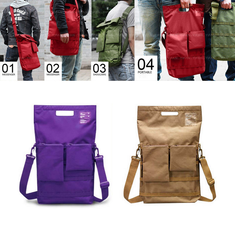 2016 Fashion laptop Bag Functional Travel Backpack With strap Messenger Bag Single-shoulder Handle bag Oxford Cloth Waterproof(China (Mainland))