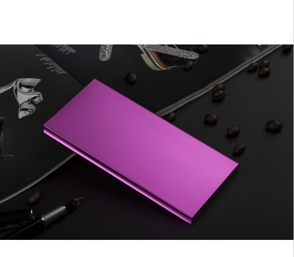 9.5mm Ultrathin portable Power bank 8000mah external battery For iphone Samsung phones charger
