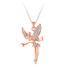 Women Necklaces & Pendants 18K Rose Gold /Platinum Plating Austrian Crystal Angel Necklace Jewelry Mix Colors Options NL0008
