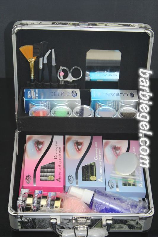 2014 New Professional High Quality False Extension Eyelash Glue Brush Kit Set with Box Case Salon Tool#4+<br><br>Aliexpress