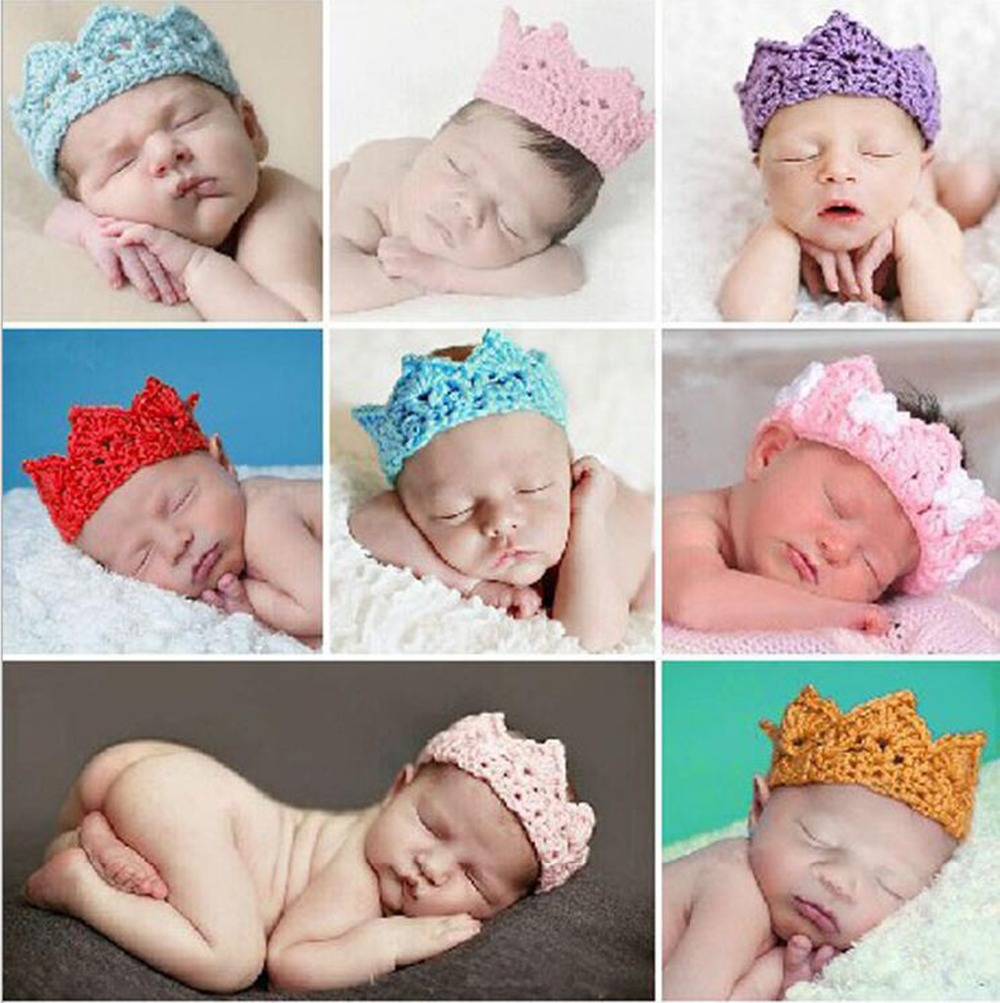Infants cap lovely men and women baby wool hat crown empty hat one hundred days photography(China (Mainland))