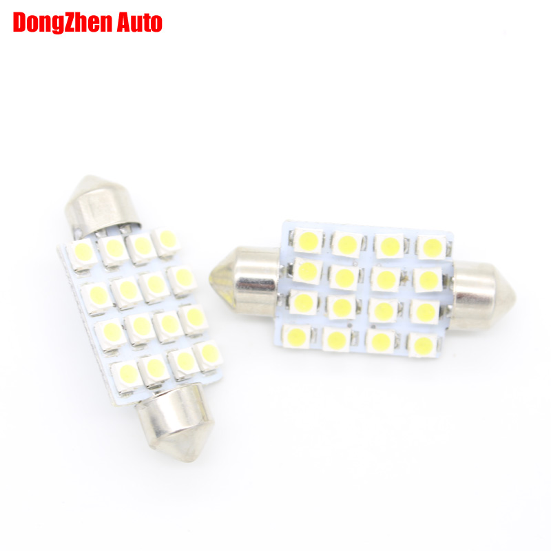 1X 24V 16 3528 41mm Car LED Interior Dome Festoon Light Reading Lamp Auto C5W C10W Licence Plate License Plate Light Cargo Light(China (Mainland))