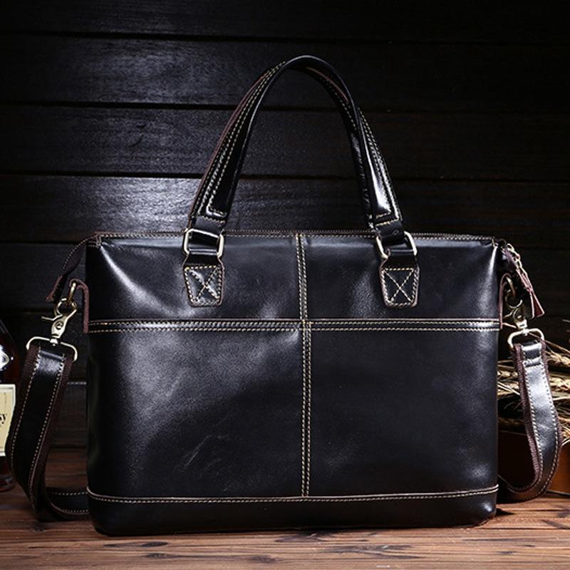 Men Bussiness Bag New Genuine Leather Bags New Vintage Day Clutches Men Fashion Shoulder Bag<br><br>Aliexpress