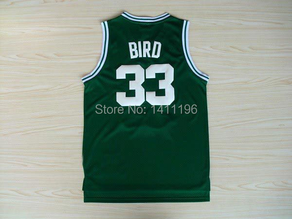Boston #33 Larry Bird Basketball Jerseys Green Jersey(China (Mainland))