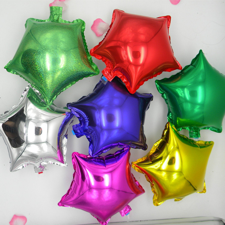 10 inch aluminum foil decoration balloon helium balloons for 7 star balloon decoration