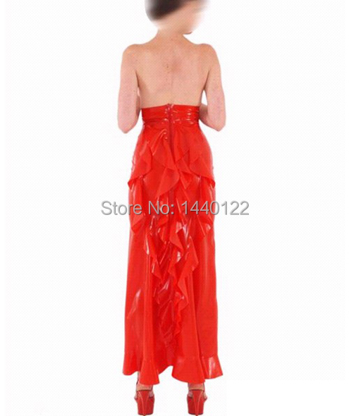 Red sexy latex skirt fetish costumes for womenОдежда и ак�е��уары<br><br><br>Aliexpress
