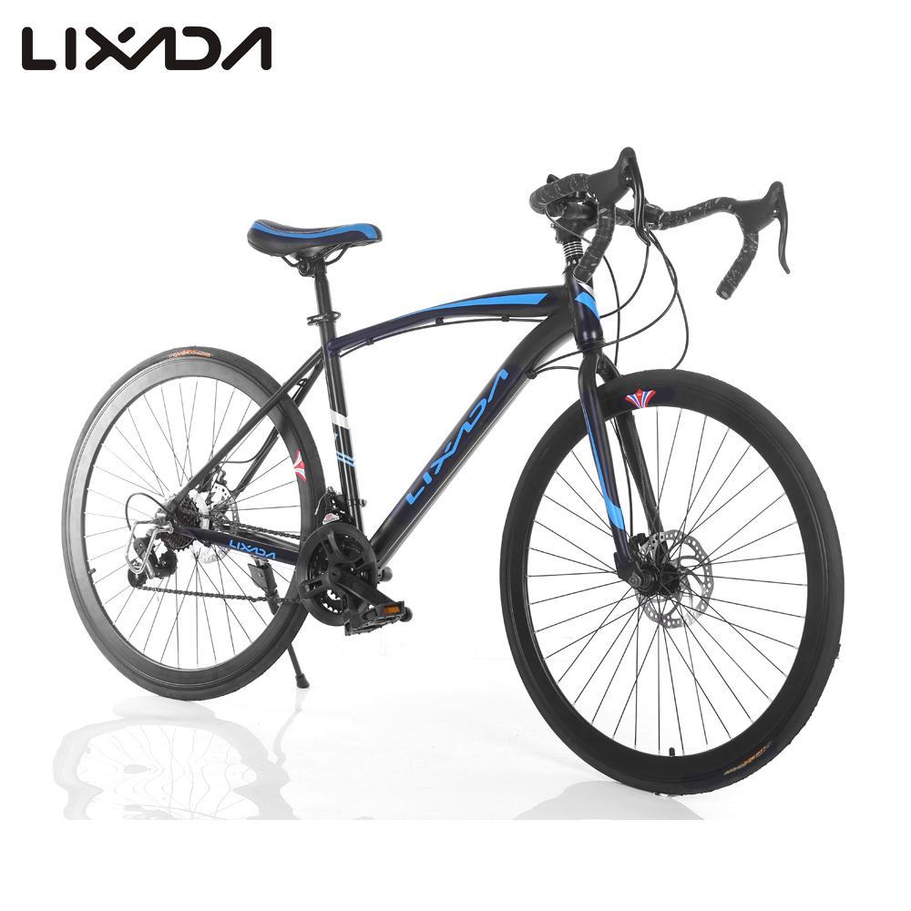 """Lixada 26"""" Carbon Steel Bike 21-speed Derailleur Road Bike Bicycle Fixed Bike Rear caliper brake Blue / Pink(China (Mainland))"""