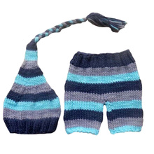 New Arrival Christmas stripe style 2 designs baby hat handmade crochet photography props newborn baby cap with pocket baby caps