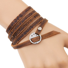 Buy 2017 New Fashion Brown Leather Bracelet Leisure Retro Multi-layer Bracelet Ladies / Men Charm Style Bracelet for $2.20 in AliExpress store