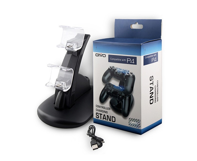 Micro USB Charging Dock for OIVO PS4 Double Handle OIVO Dual USB Charge Dock Stand for Sony Play Station PS4 Charger Controller