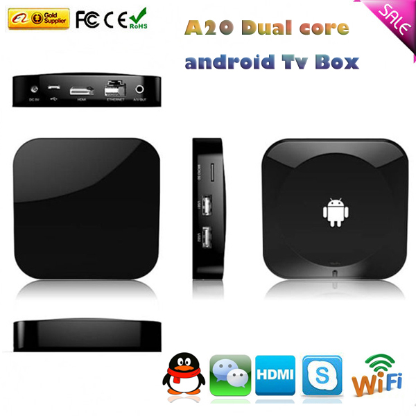 Factory Original A20 dual core android TV Box full hd 1080P media player - B&Y Digital Technology Co.,Ltd store