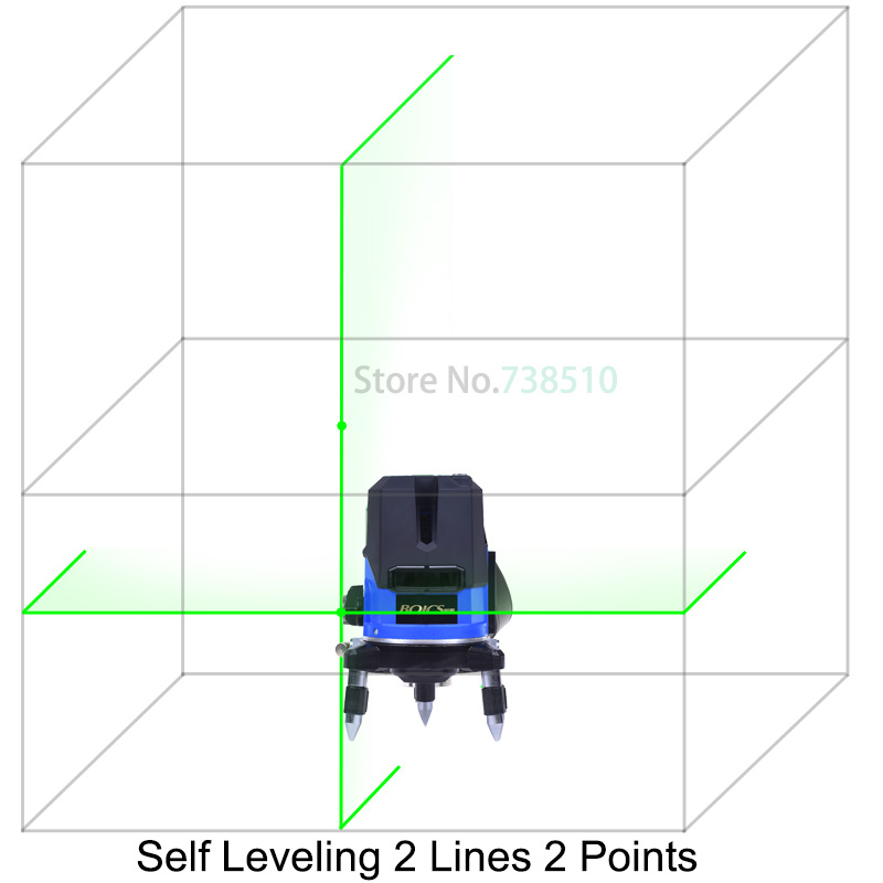 Brand Outdoor laser level 532nm High brightness 2 line 2points cross line self leveling rotary laser level Slash Function(China (Mainland))