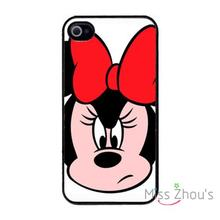For iphone 4/4s 5/5s 5c SE 6/6s plus ipod touch 4/5/6 back skins cellphone cases cover New Cute Minnie Mouse Variety BLACK