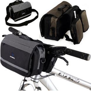 New Arrival Multifunctional Bicycle Bike Cycle Handlebar Bag Front Basket Bar Black & Coffee