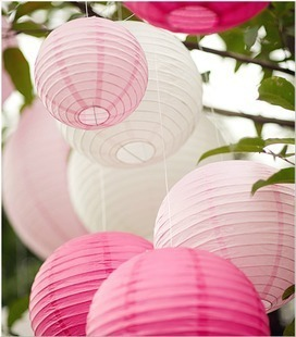 100pcs 4''(10cm) Mix Color Round paper lantern chinese lantern lamps festival wedding decoration party lanterns(China (Mainland))