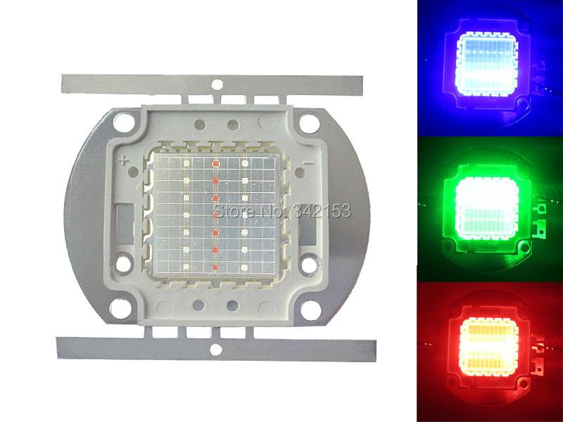 20W High Power RGB Led Emitter Lamp Light Red 620NM Green 520NM Blue 470NM DIY Spotlighting Light(China (Mainland))