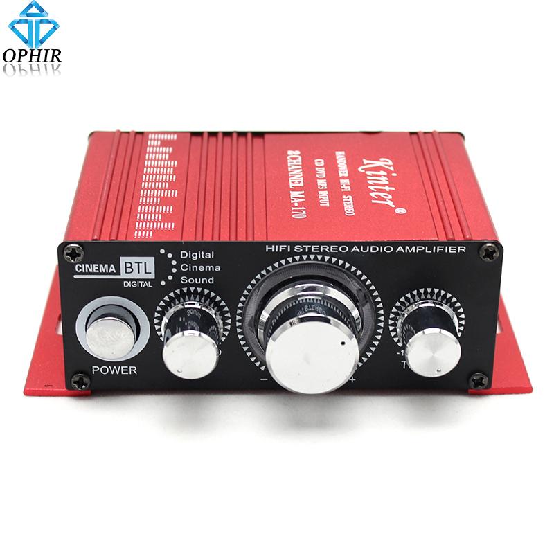 OPHIR 2 Channel HI-FI Mini Amplifiers Digital Power Audio Stereo Amplifier 12V CD MP3 Radio Car Auto Motorcycle Home_AR013(China (Mainland))