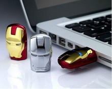 Gadget Iron Man Flash Drive With LED Light Real Capacity 1GB 2GB 4GB 8GB 16GB 32GB