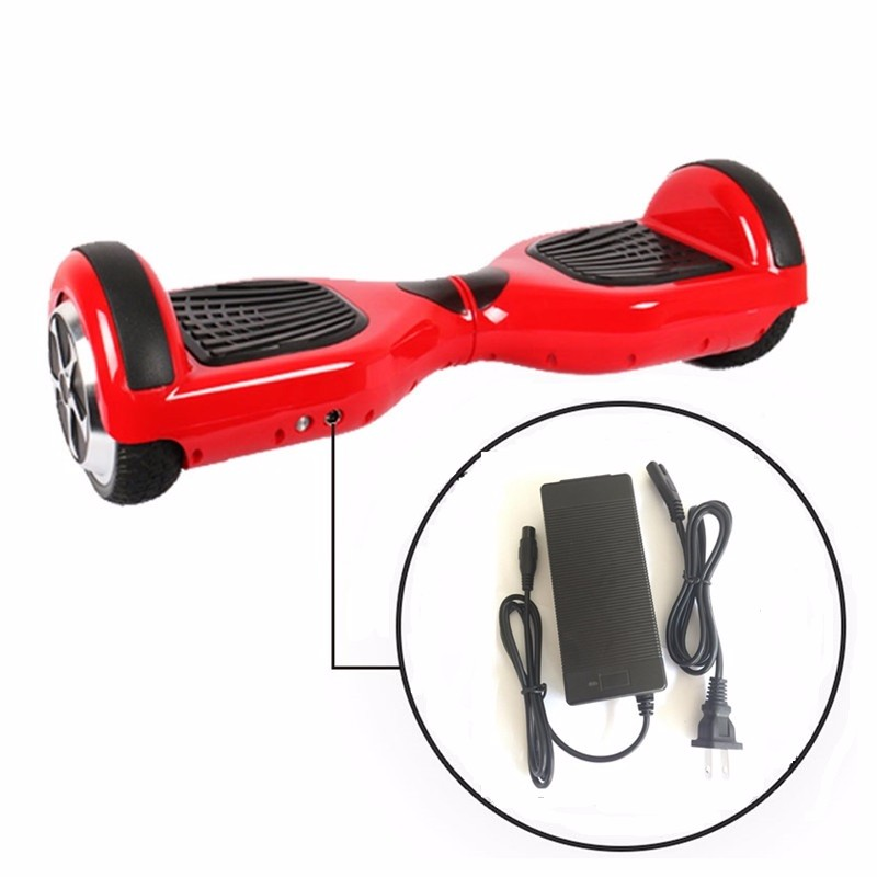42V 2A Universal Battery Charger, 100-240VAC Power Supply for Self Balancing Scooter Hoverboard