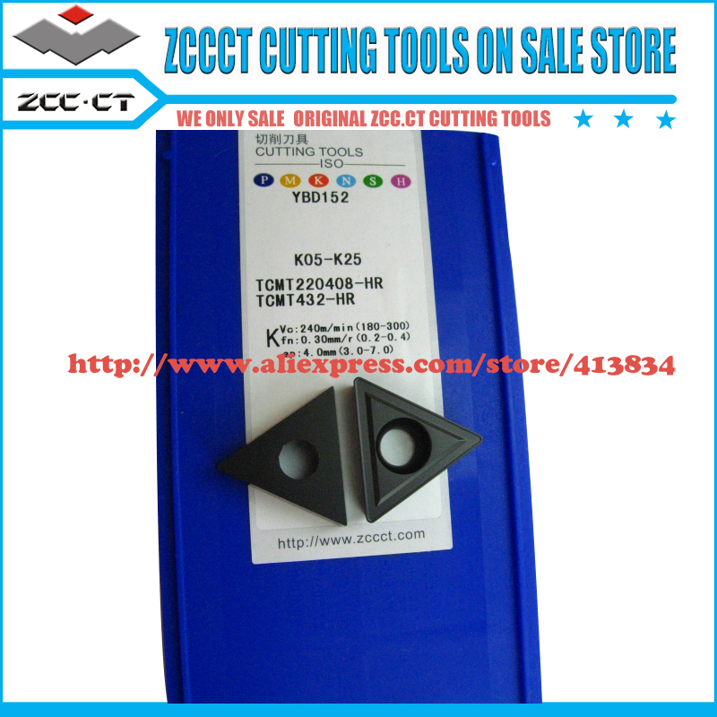 Free Shipping 20pcs/Pack Original ZCC.CT TCMT 220408-FR YBD152 Cemented Carbide Turning Insert tool part cutter of CNC tools(China (Mainland))