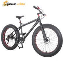 passion ebike  Aluminium frame 26*4.0 7 Speed fat tire bicicleta mountain bicycle fat bike 17inch frame fat bike(China (Mainland))