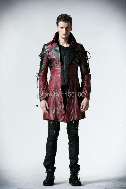 Punk Rave Gothic Man-made Leather Rock studded Cotton Jacket Coat Streampunk HoodieLot S-3XL(China (Mainland))