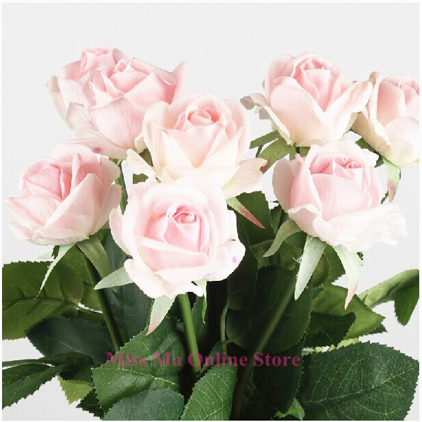 PU Rose - Real Touch Rose Decorative Flower Artificial Flower Wedding Flower Dahlia Peony Gift Party Hotel Event Free Shipping(China (Mainland))