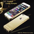 With logo for iPhone 6 Gold Mirror Case Bumper 6 Plus Luxury Metal Aluminum Frame Back