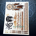 Black Totem Temporary Tattoo Choker Neck Designs Fake Flash Waterproof Tattoo Sticker PGF378 Body Art Arm Tattoo Jewelry Sticker