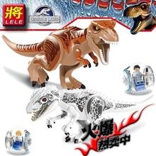 LELE 79151 Jurassic Dinosaur world 2pcs/lot Tyrannosaurs Rex Minifigure Building Blocks Sets Model action figure baby Toys(China (Mainland))