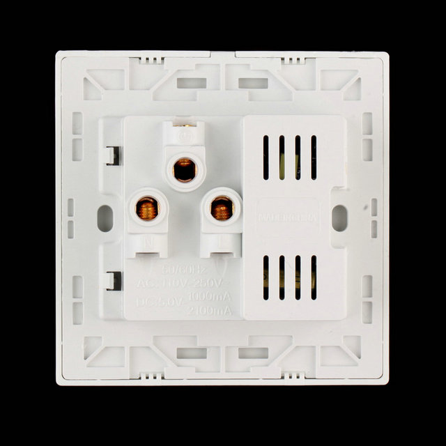 2016 1pc Dual USB Electric Wall Charger Dock Station Socket Power Outlet Panel Plate