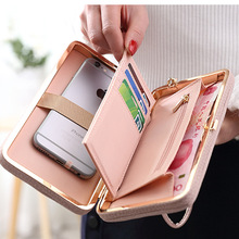 Luxury Women Wallet Phone Bag Leather Case For iPhone 7 6 6s Plus 5s 5 Samsung Galaxy S7 Edge S6 J5 Xiaomi Mi5 Redmi 3S Note 3 4(China (Mainland))